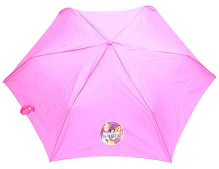 Disney Princess Kids Umbrella With Carry Case - Pink