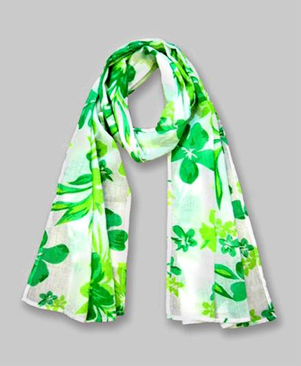 Floral Print Scarf - Green
