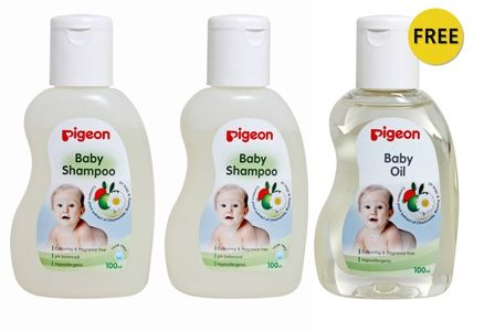 Pigeon - Baby Skin Care and Haircare Travel Pack
