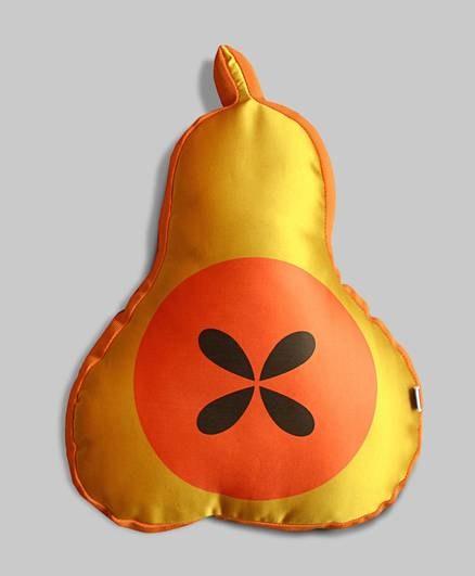 Orange Pears Seed Reversible Cushion