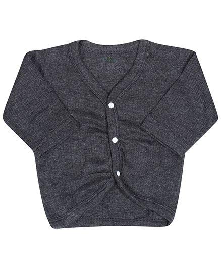Babyhug Thermal Vest Front Open - Grey