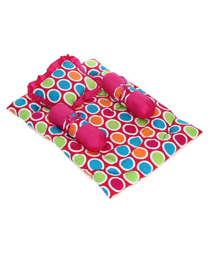 Babyhug Premium Gadda Set - Multicolor Polka Dots