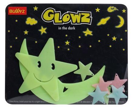 Buddyz Glowz Smiling Star And Smiling Moon - 8 Pieces