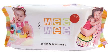 Mee Mee Baby Cotton Wipes-80 Pieces
