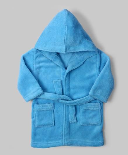 Cornflower Blue Hooded Baby  Robe