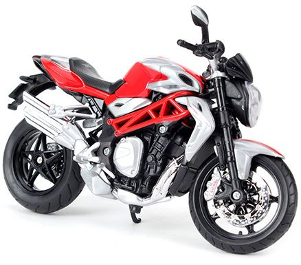 Maisto MV Agusta Brutale 1090 RR Bike - Red And Silver