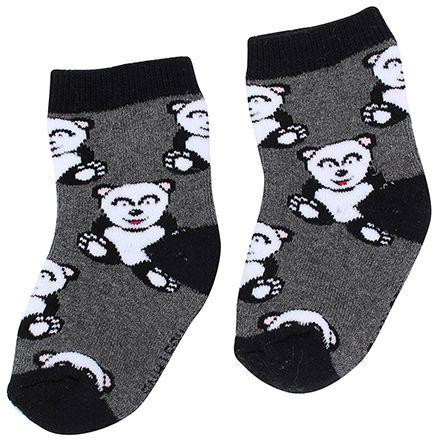 Mustang Socks Teddy Print - Black