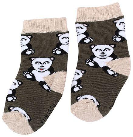 Mustang Socks Teddy Print - Dark olive