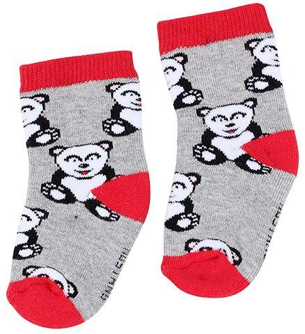 Mustang Socks Teddy Print - Grey