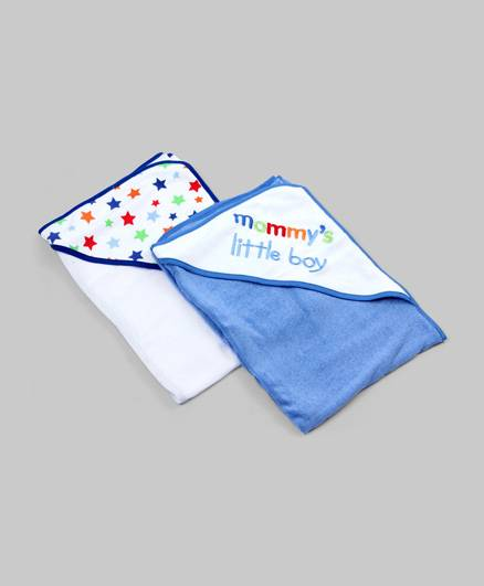 Multicolor Set of 2 Hooded Towels