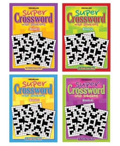 Dreamland Super Cross Word Book Combo Pack - English