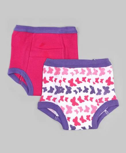 Pink & White Set of 2 Training Pants