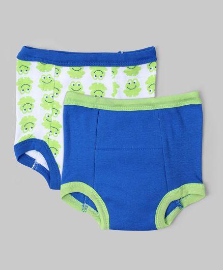Blue & White Set of 2 Training Pants