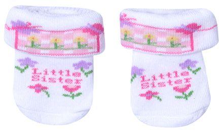 Babyhug Socks - Little Sister Print
