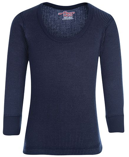 Warm Hug Thermal Vest Full Sleeves - Navy Blue