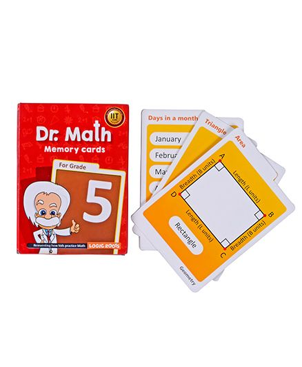 Logic Roots Dr Math Memory Cards For Class 5 - Grade 5