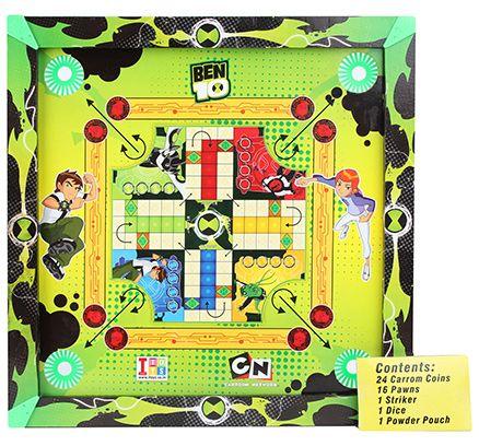 Ben 10 Ultimate Alien 2 in 1 Carrom Board