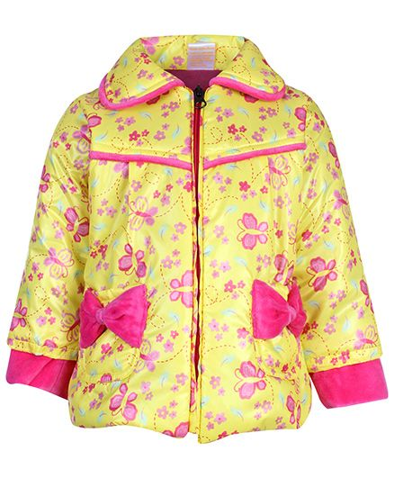 Little Kangaroos Full Sleeve Jacket - Butterfly Print