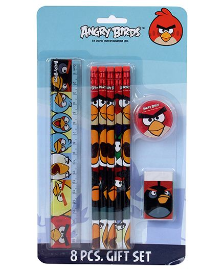Angry Birds Stationery Set - 8 Pieces