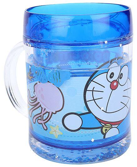 Doraemon Double Layered Polypropylene Sea Mug - Blue