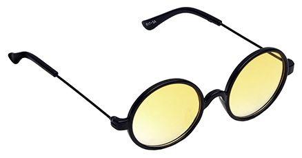 Spiky Round Sunglasses - Black And Yellow