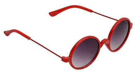 Spiky Round Sunglasses - Red And Black