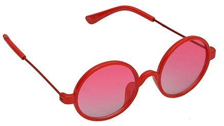Spiky Round Sunglasses - Red