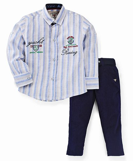 Active Kids Wear Shirt And Pant - Stripe Print