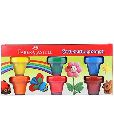 Faber Castell Modelling Dough - Pack Of 6 Shades