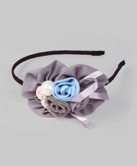 Blue & Gray Pearl Hairband