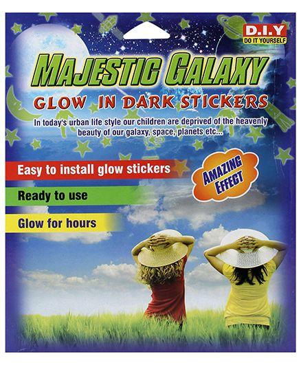 Sticker Bazaar Majestic Galaxy Glow in Dark Sticker