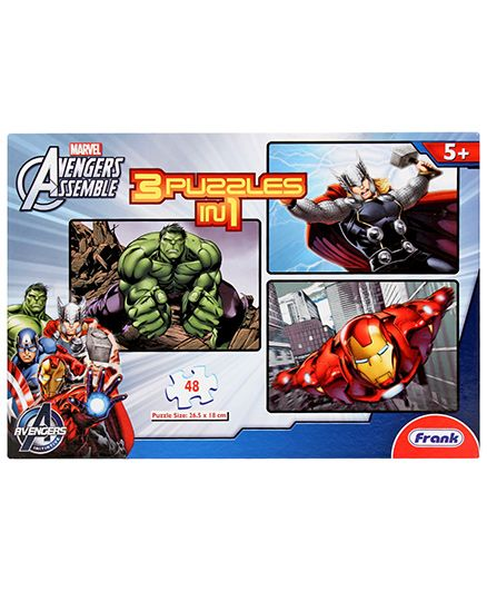 Frank Avengers 3 In 1 Puzzle Set