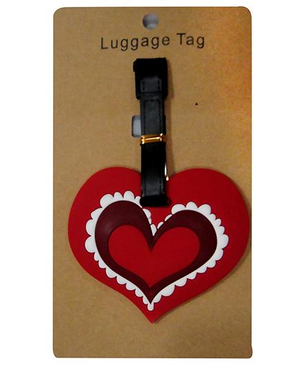 EZ Life Premium Silicon Luggage Tag - Heart