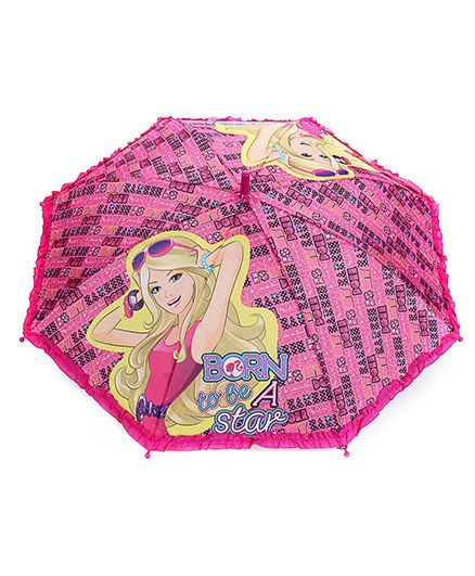Barbie Kids Umbrella - Born To Be A Star Print