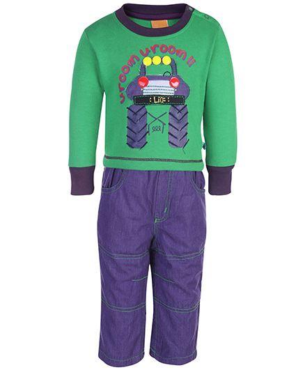 Little Kangaroos Sweat T-Shirt And Pant Set - Uroom Print
