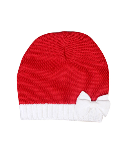 Buzzy Cap Red - Bow Applique