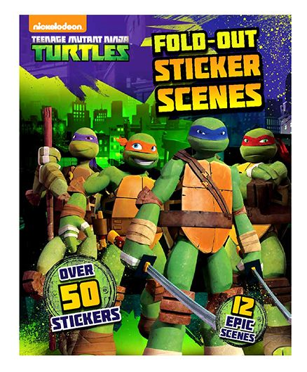 Parragon Nickelodeon Turtles Fold-Out Sticker Scenes - English