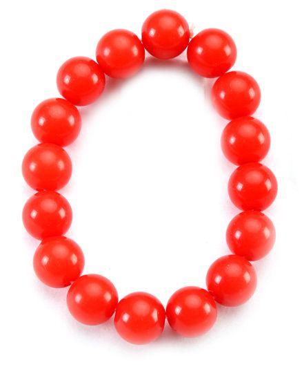 Hopscotch Beaded Bracelet Round - Red