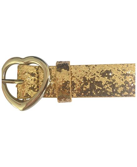 NeedyBee Resizable Toddler Belt Heart Buckle - Golden