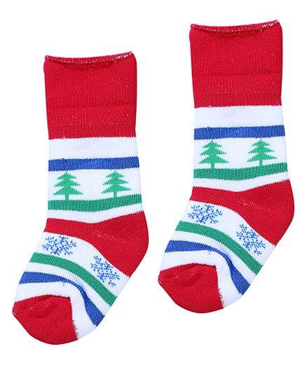 Mustang Socks - Christmas Tree Print