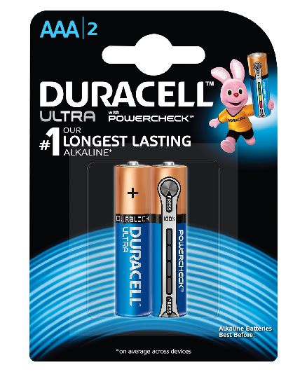 Duracell Ultra AAA Batteries - Pack Of 2