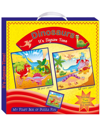 Art Factory Dinosaurs My First Box of Puzzle Fun