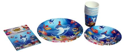 Birthday Party Kit - Underwater Themed Tableware Set