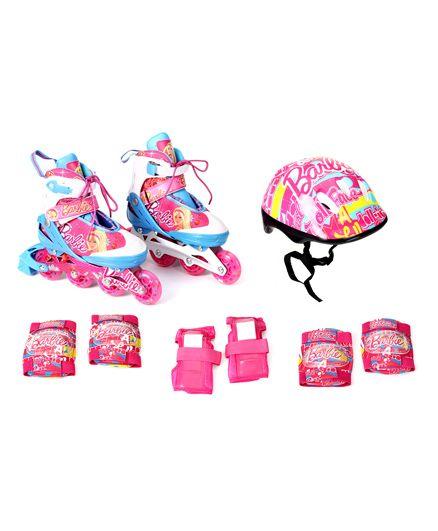 Barbie Adjustable Inline Skate Combo Set - Pink