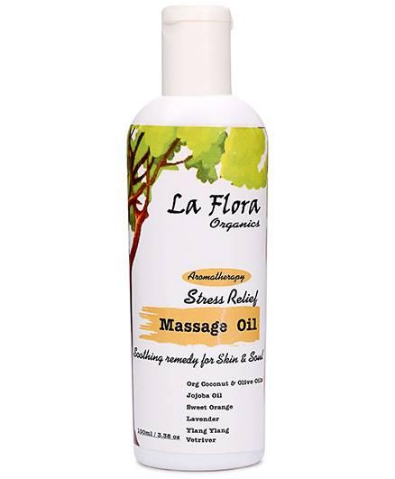 La Flora Organics Aromatherapy Stress Relief Massage Oil - 100 ml