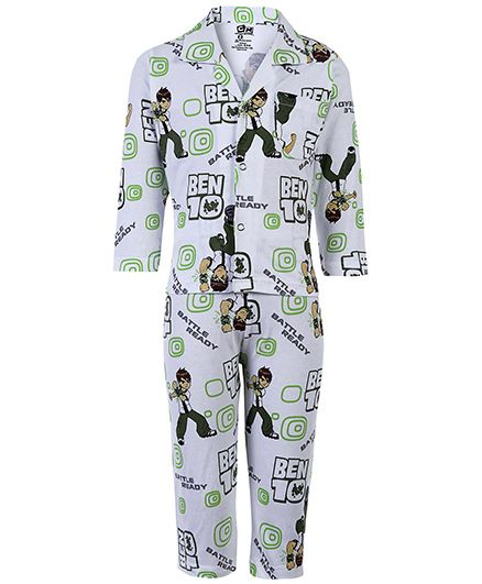 Ben 10 Full Sleeves Night Suit - Multicolour