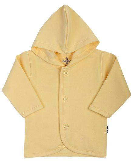 Child World Full Sleeves Hooded Vest - Yellow