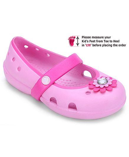 Crocs Sandal Style Clogs Pink - Petal Applique