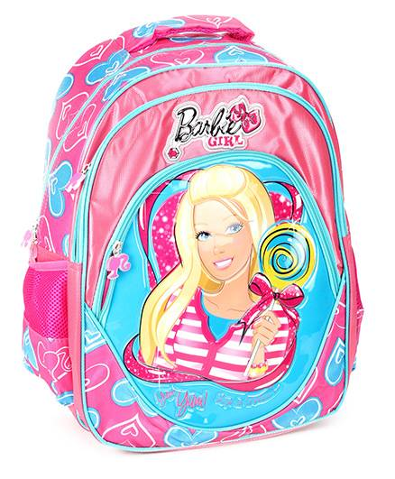 Barbie School Bag Blue And Pink - 15.7 Inches