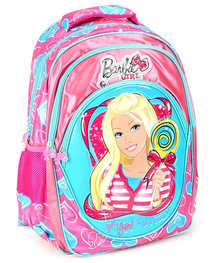 Barbie School Bag Blue And Pink - 17.3 Inches